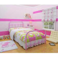 bedroom furniture for teen girls Metal Twin Bed Melissa elegant design Pink