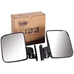 10L0L Golf Cart Mirrors - 2 x Side Mirror for EZGO Yamaha Club Car AU Stock