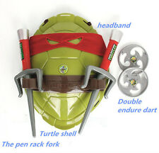 HOT Teenage Mutant Ninja Turtles Deluxe Shell TMNT Weapons Armor Toys Kids Red