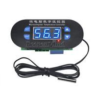 DC12V Digital Thermostat Temperature Alarm Controller Sensor Meter Blue LED