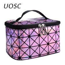 UOSC Multifunctional Cosmetic Bag Women Leather Travel Make Up Necessaries Organ