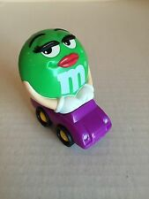 MARS M&Ms PURPLE CAR W/GREEN M&M SITTING INSIDE CAN INS W/M&Ms FOR BURGER KING