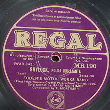 78rpm FODENS MOTOR WORKS BAND shylock / the cossack MR 190