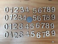 40x 24mm Wooden NUMBERS plywood Craft Wedding Card Making Number -  4 sets of 10
