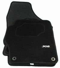 PEUGEOT 308 DILOUR BLACK CARPET FRONT/REAR FLOOR CAR MATS -9663A7 - GENUINE