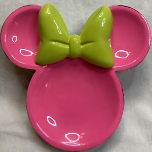 Minnie Mouse Pink Bow Soap Dish Jewelry Dish Decor