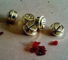 5 x Large Metal Gold Jingle Bells 2cm- Craft Parts for DIY Pet Bunny Rabbit Toy