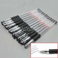 Set 12x Penna Roller Inchiostro Nero Gel Pen 0,5mm in Plastica 15x0,8cm Offerta