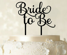 """""""Bride To Be"""" Wedding Cake Topper Custom Shiny Black Cake Topper-oDU"