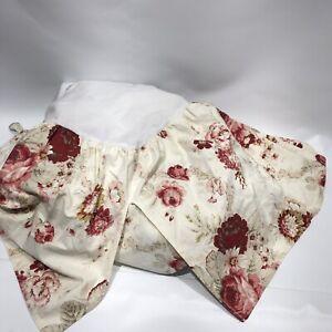 Waverly Garden Room Norfolk Vintage Rose Full Size Bed Skirt Dust Ruffle