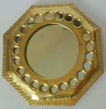 Moroccan hand crafted beaten brass mirror SMALL ( design 2 )
