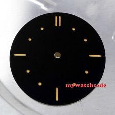 38.9mm black sandwich pure sterile dial fit ETA 6497/98 mens watch D6