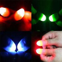 2pcs LED Flashing Finger Thumb Light Luminous Toys Magic Trick Props Party Gift