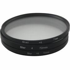Star Filter 72mm Kit Star 4, 6 & 8 Star Effect Starburst 4 6 8 with Bag
