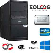 PC DESKTOP COMPUTER FISSO INTEL CORE i5 RAM 8 GB SSD 120 GB / WINDOWS ORIGINALE