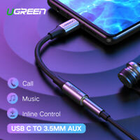 Ugreen Type c to 3.5mm Headphone USB C AUX Adapter jack For Huawei mate 20 P20