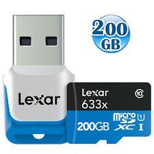 LEXAR 4K 200GB 200G microSDXC micro SDXC micro SD Class10 Card w/USB3.0 95MB/s*
