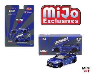 MINI GT 1/64 LB Works Nissan Skyline GT-R R35 Candy Blue MGT00034