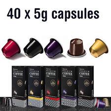 40 Espresso Premium Coffee Capsules Nespresso pods Compatible 5 Flavors Choice