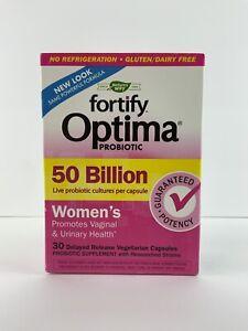 Natures Way Fortify Optima Probiotic 50 Billion Women's 30 Capsules Exp: 10/2021