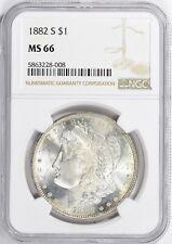 1882-S $1 Morgan Silver Dollar NGC MS 66
