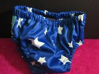 Charlie Banana Cloth Swim Diaper or Trainer Medium Blue W/ White Stars NWOT