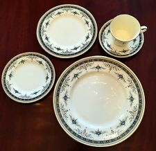 Minton Grasmere Blue Five Piece Place Setting Bone China - England - 1st Quality