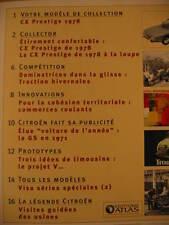 FASCICULE 62 PASSION CITROEN  CX PRESTIGE 1978