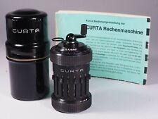 Précoces CURTA machine à calculer type I de 1952, entièrement en métal, avec boîte de conserve, instructions