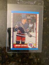 1989-90 O-PEE-CHEE Hockey #136 BRIAN LEETCH ROOKIE..................NM-MT