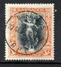 Barbados 1920-21 Victory 3s Black & Dull Orange SG211 Used