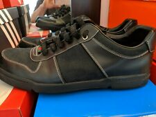Gucci Shoes Black Signature Monogram Canvas Leather 162961 Mens Size 11