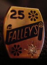 Pin - Falley's Grocery - Topeka, Kansas - 25 Year - 10K Gold with Diamond???