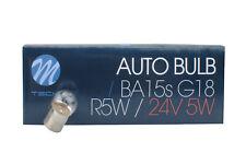 10x R5W BA15s G18 24V/5W Truck Lorry CLEAR M-TECH Bulb Set Z930 Parking Plate