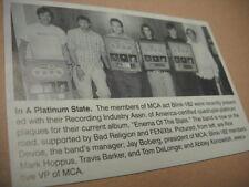 Blink 182 receive platinum awards Original 2000 music biz promo pic with text