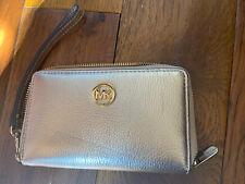 Michael Kors Gold Leather Smartphone Wallet Wristlet