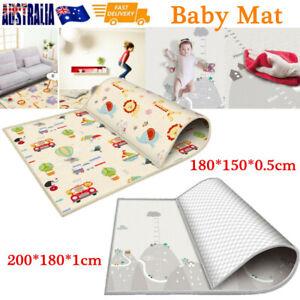 200CM Baby Play Mat Crawling Folding Pad Kids Waterproof Non-Slip Foam Carpet AU