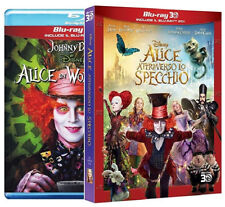 ALICE Attraverso Lo Specchio + Alice In Wonderland (4 BLU-RAY 3D + 2D) Disney