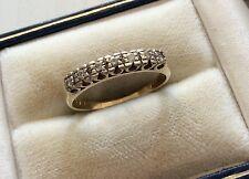 Beautiful Ladies Full Hallmarked Vintage 9ct Gold Quality Ladies Diamond Ring -O
