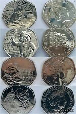 PADDINGTON BEAR 50P FIFTY PENCE COINS STATION PALACE TOWER CATHEDRAL FREE POST