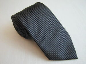 DONALD TRUMP Silk Necktie Black Gray Check Luxury President DJT Signature