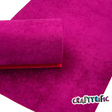 Deep Magenta Velvet Sheet, Velvet Fabric Felts, Fabric Sheet, Vibrant and Sturdy