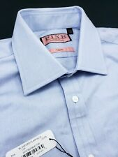 Thomas Pink Classic Fit French Cuff Oxford 100% Cotton Blue Shirt 18 x 35/36