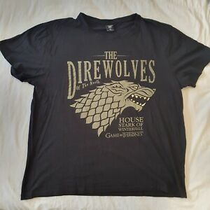 Game Of Thrones Men's Size 3XL Black Short Sleeve T-Shirt N00517
