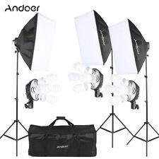 3* Photography Lighting Softbox Stand Photo Equipment Soft Studio Light Kit F6Y4