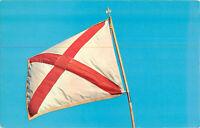 Postcard State Flag Of Alabama