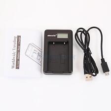 EN-EL5 Battery Charger W/ LCD Show Screen for Nikon CoolPix 5200 P100 Black