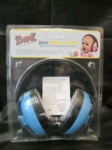 Baby Banz EM009 Plastic Hearing Protection Earmuffs for Infants - Blue NIP