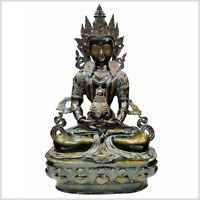 Nag Kanya 7cm Messing Handarbeit aus Nepal Buddha Naga Kanja Schlangengöttin