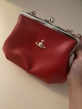 Vivienne Westwood Crossbody Clutch Bag in Red. 100% authentic
